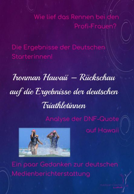 Ironman Hawaii 2017 - Frauenrennen