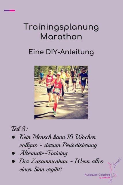 Marathonlauf - DIY-Anleitung für einen Trainingsplan - Teil3 Thema Periodisierung,