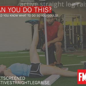 Übung Active Straight Leg Raise aus der Functional Movement Screening Serie