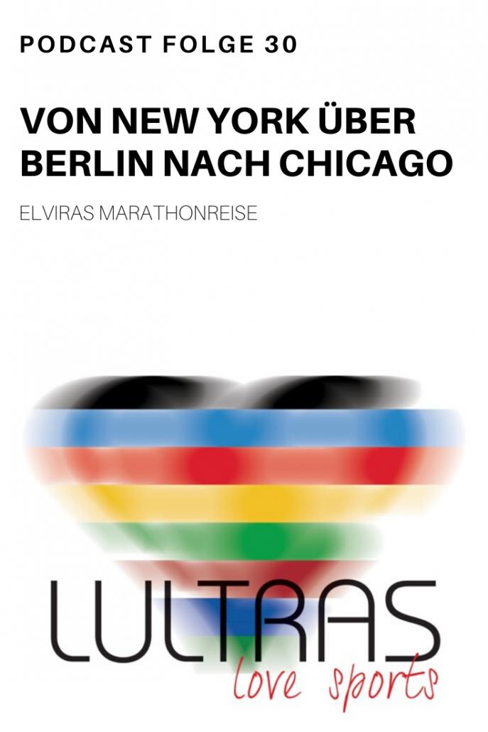 Elviras Marathonreise. Von New York über Berlin nach Chicago -